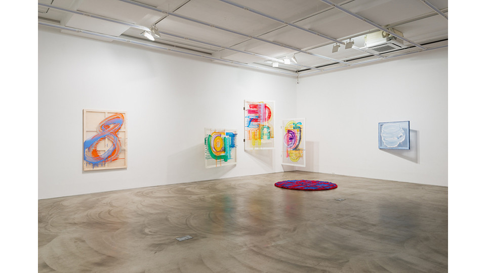 Installation view of Yoon Kyung Park, Arrival Unexpected Dialogue,Gallery Simon, 2014