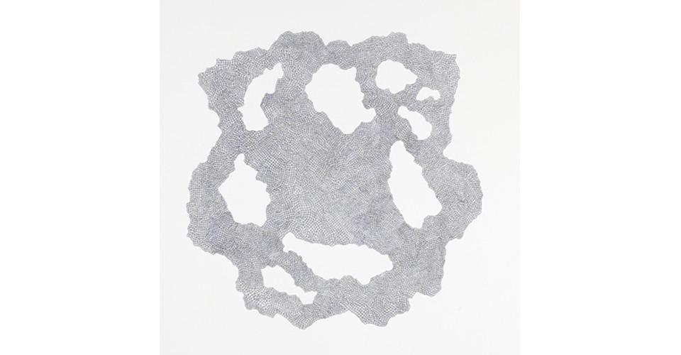 약 9000개의 경첩을 위한 드로잉( Drawing for 9000 Hinges), 2008, 종이에 잉크, 55 X 52 cm