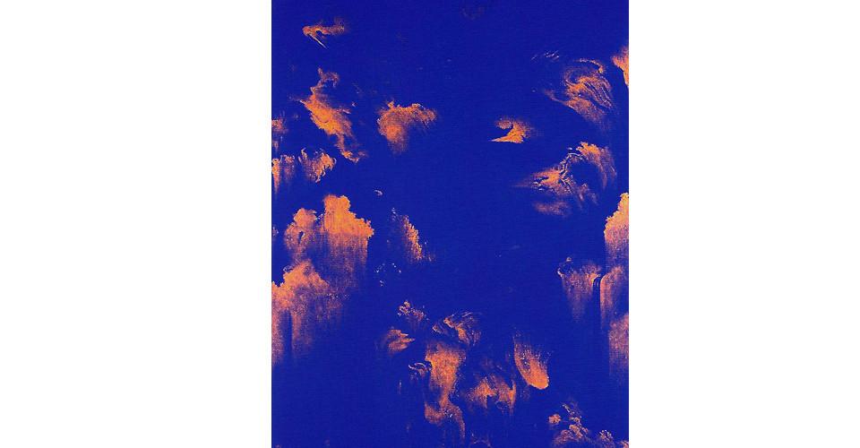 Moon, Beom, Slow, Same #7089, 2005, acrylics, oilstick on panel, 182 x 92 x 7 cm
