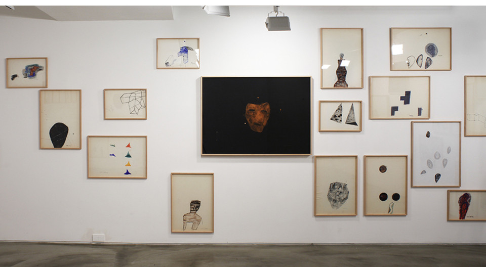 Installation view of Drawings, 3 Acts 5 Scenes Happy Together, Gallery Simon, 2013