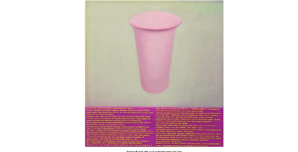 Rhee, Ki-Bong, Shallow Pink Inside, 2006, acrylic on plexiglas panel, 101.5 x 107.5 cm
