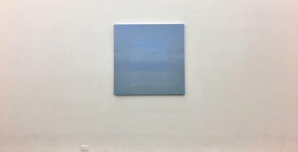 Sun Myoung Choi, Circular Horizon, 2010, acrylic on wood panel, 123 x 123 cm