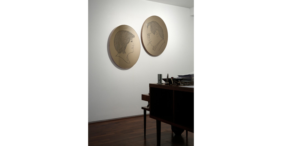 Installation view of What the West Wind Saw, Gallery Simon, 2012