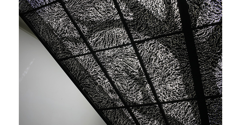 Choi, Tae-Hoon, Skin of Time1, 2007, steel and light, 350 x 350 x 300 cm, detail