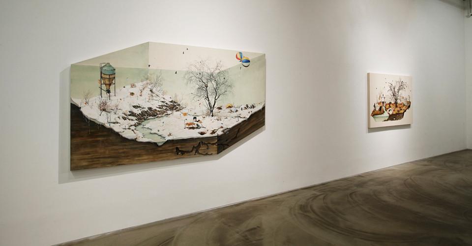 Installation view of Lee Jinju, Detail, Gallery Simon, 2013