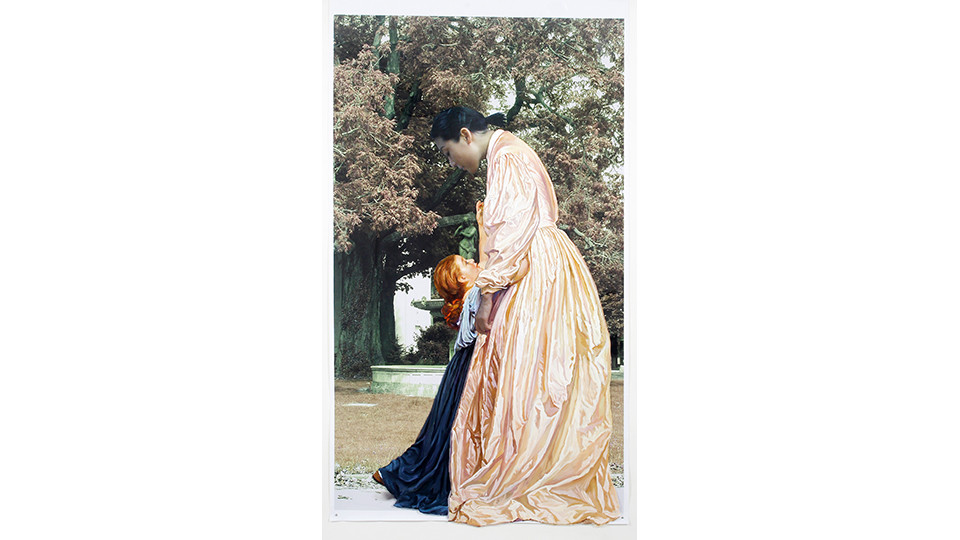 "Bae, Joon-Sung, ""The Costume of Painter""- L. Leighton & Lady, 2007, lenticular, 120 x 178 cm"
