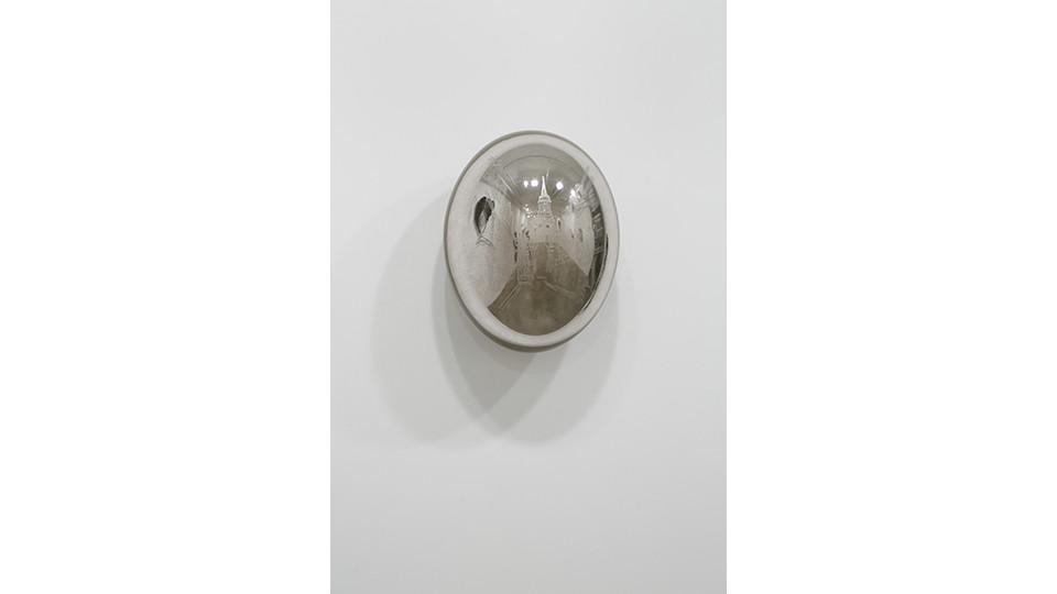 젊은 날의 추억 Memories of His Youth, 2012, etching on silver mirror, 53 x 40 x 31 cm