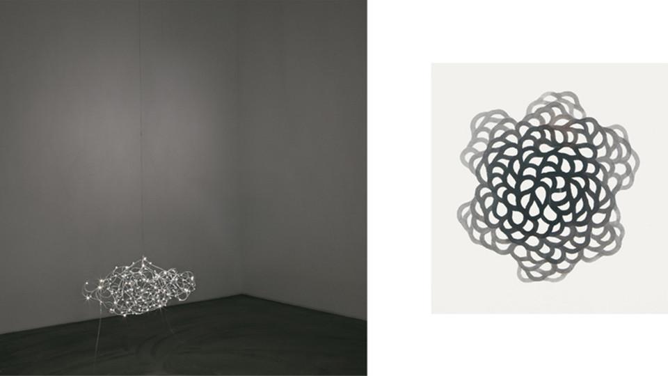 기억의 노선 (Circuit of Memory), 2011, electric wire+LED, 65 × 45 × 30 cm