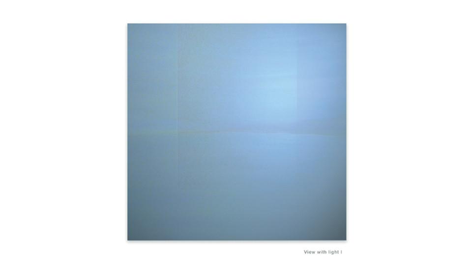 Circular Horizon, 2010, acrylic on wood panel, 123 x 123 cm