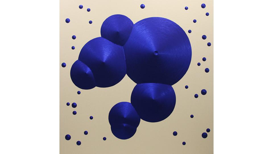 Constellation 10 (Libra), 2010, sequins on canvas, 218 x 218 cm