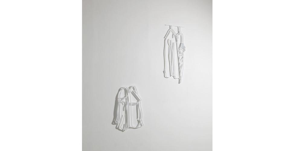 Drawing-Sculpture, 2010, aluminum, 67 x 46 cm, 98 x 40 cm