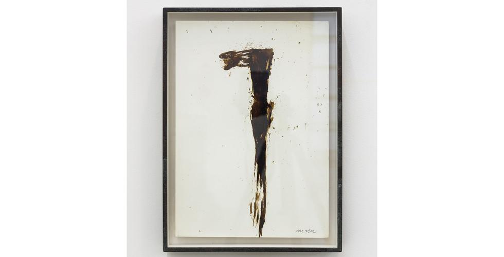 Chung Hyun, Drawing, 1997, coal tar, 31 x 44 cm