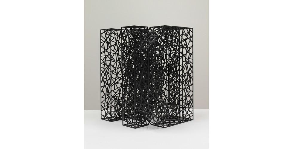 """""""마음"""" """"Mind"""", 2014, Stainless Steel, electronic coating, 29 x 42(h) x 32.5cm"""
