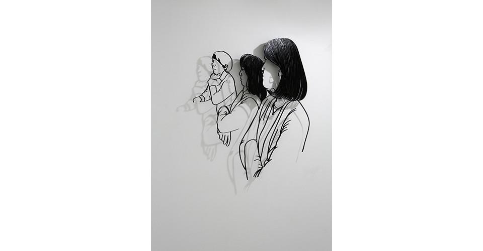 여인들 Women, 2012, aluminum, 140 x 134 x 1 cm