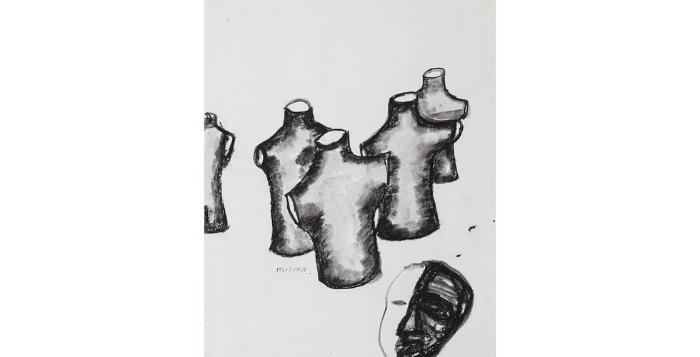 Oh Won-Bae, Untitled, 1997, pigment on paper, 63x46cm