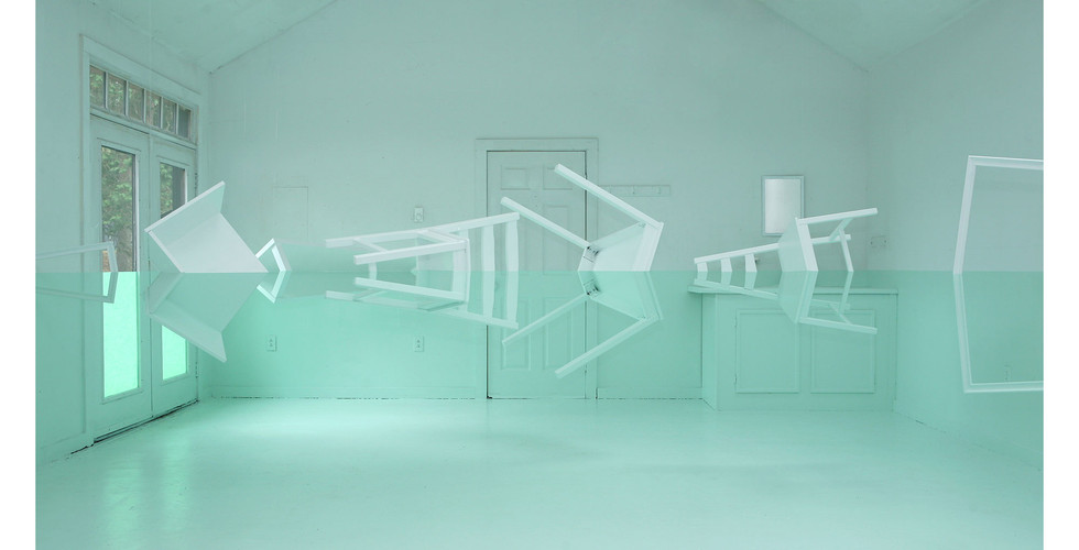 Green House, 2009, wood, paint, wire, various dimensions