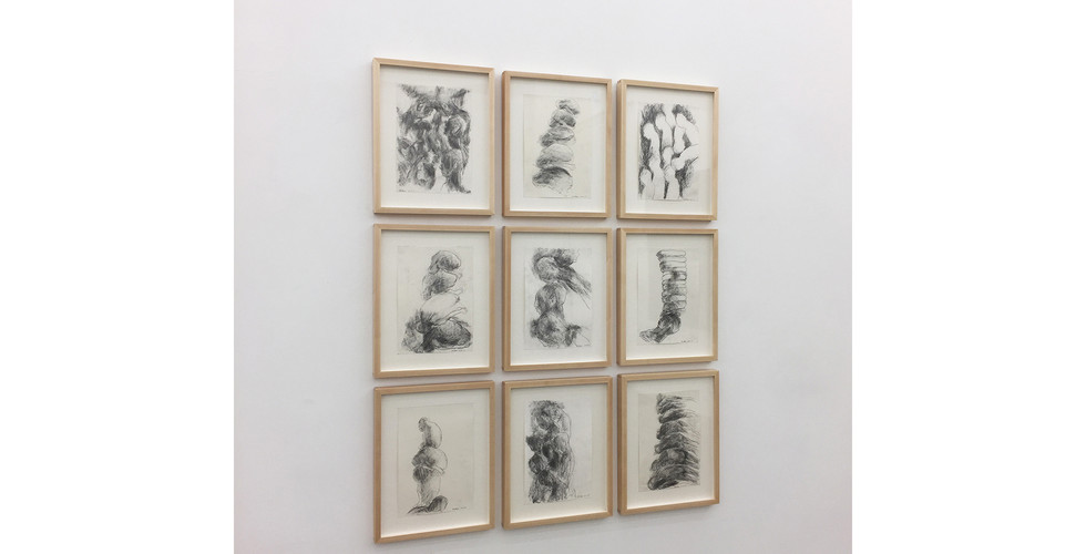 Bae Hyung Kyung, Cite1-9, 2015, pencil on paper, 41x33cm each