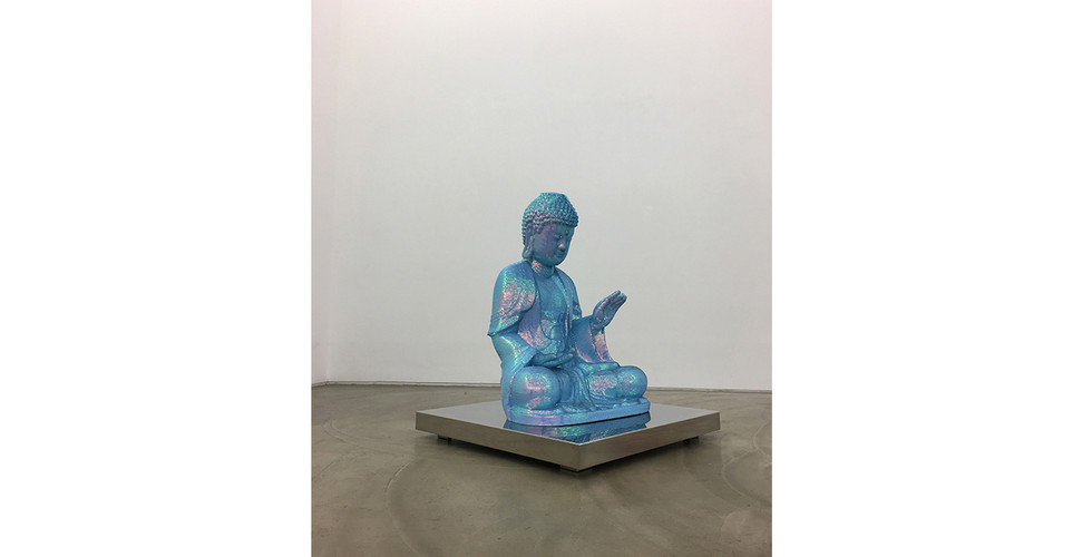 Noh, Sang-Kyoon, For the Worshipers (Light Blue), 2001, statue of polyester resin, 90 x 66 x 48 cm