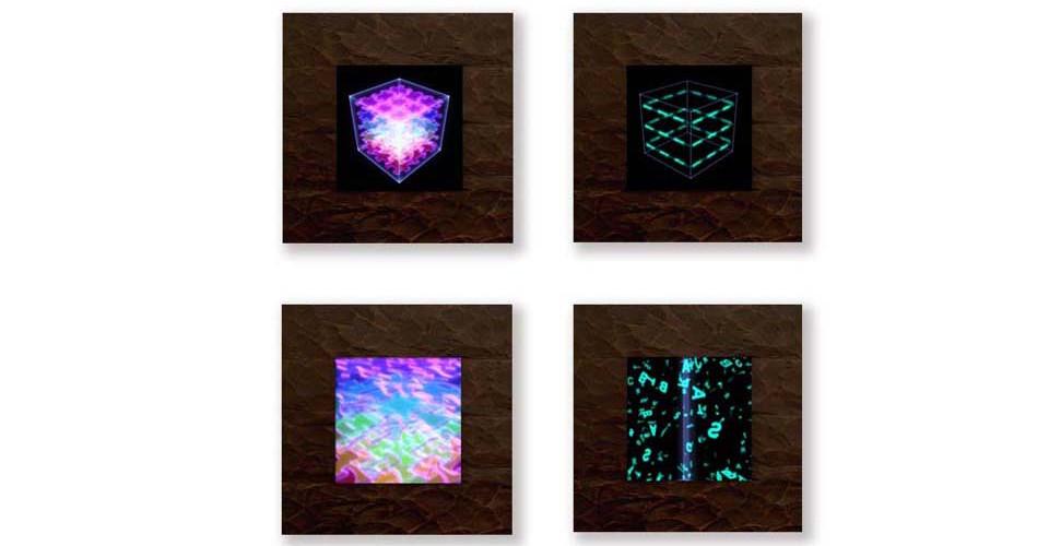 Choi, Sun-Myoung, His Puzzle, 2005, digital production, custom electronics, LCD, wood frame, 63 x 63 cm, Stuttering Abstract, 2005, digital production, custom electronics, LCD, w