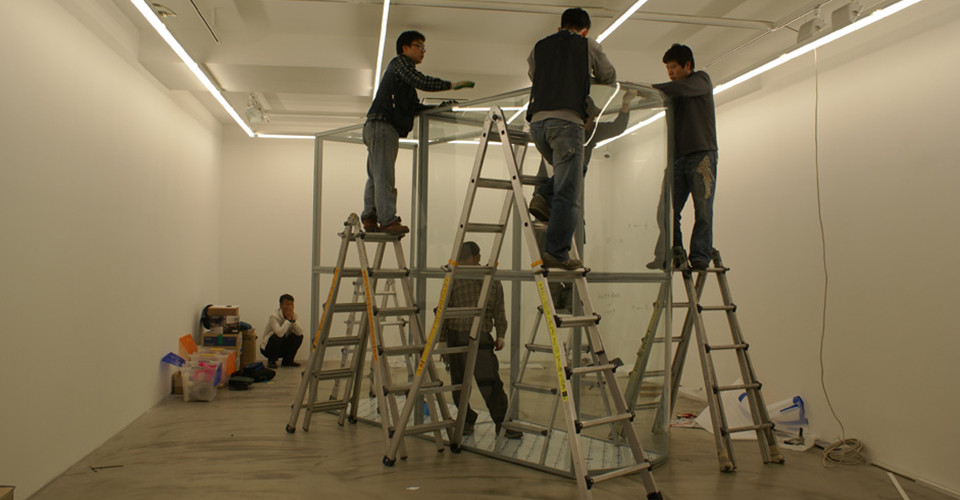 Installation view of solo exhibition, The Luminous Poem, Gallery Simon, 2011