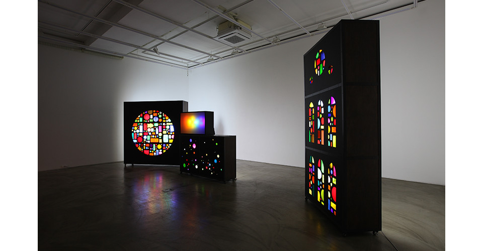 Installation view of Shadow Casters, 2014