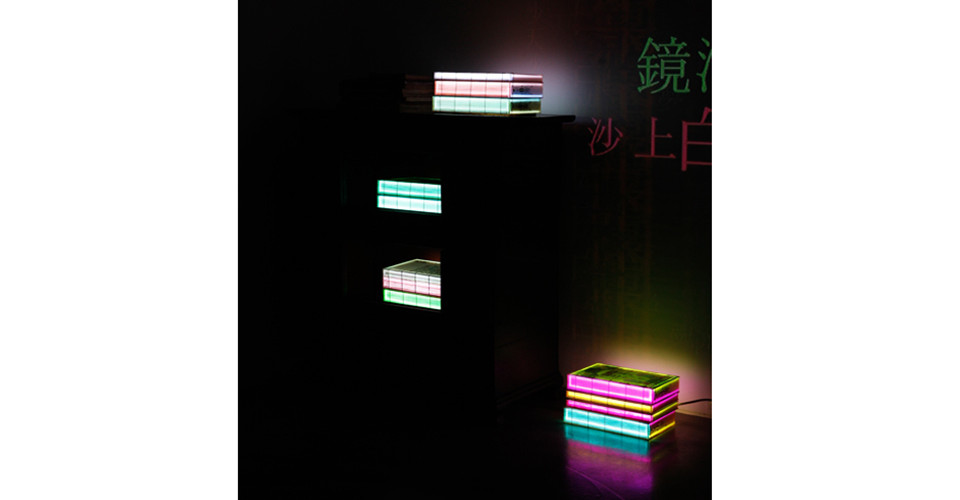 Digital Book Project- Oriental version, Pining for Mother by Shin Saimdang(신사임당의 思親), 2014, installation view, detail