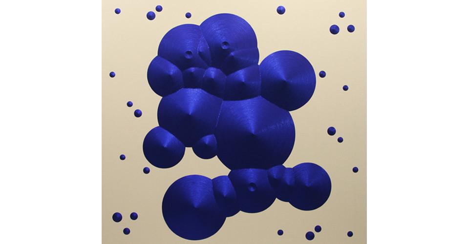 Constellation 9 (Gemini), 2010, sequins on canvas, 218 x 218 cm