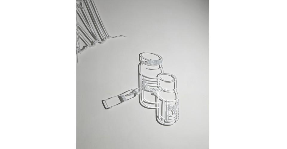Drawing-Sculpture, 2010, aluminum, 84 x 96 cm
