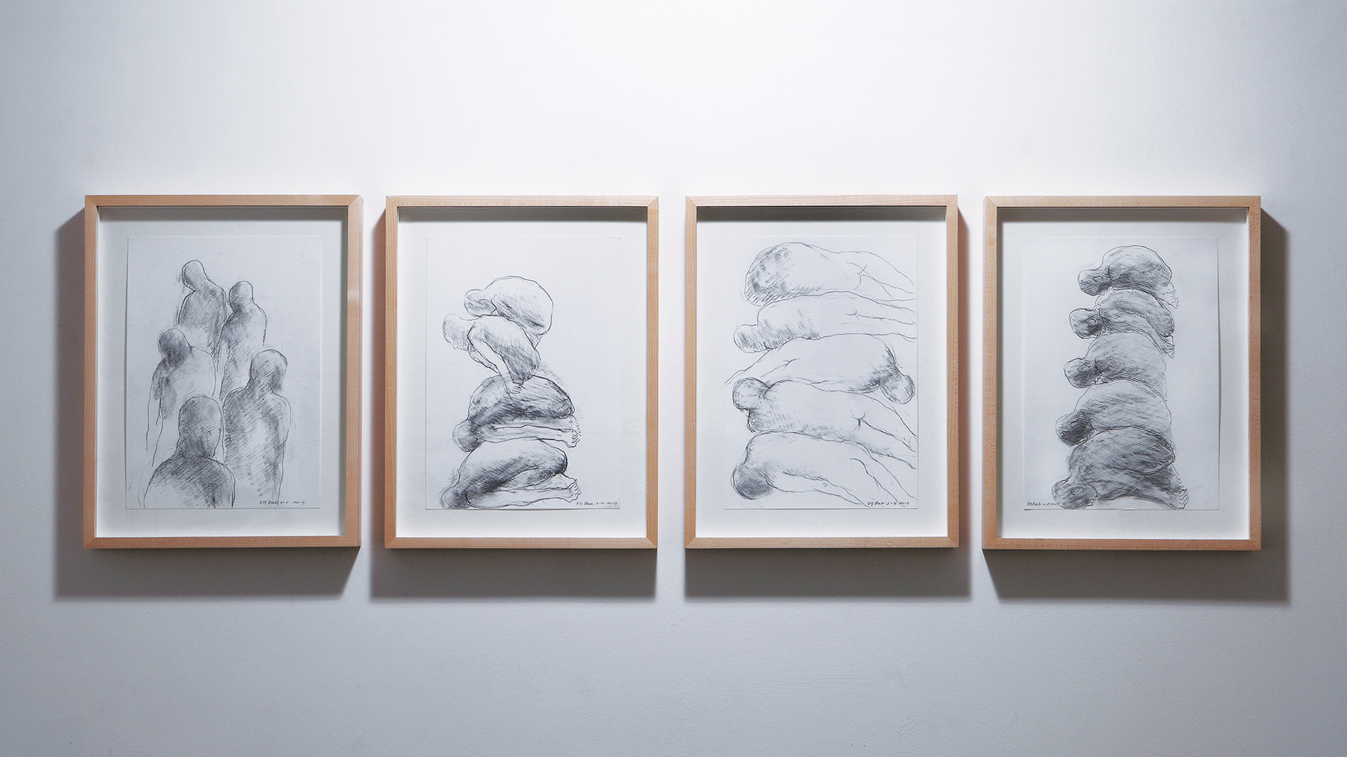 Bae Hyung Kyung, drawing, 2017, pencil on paper, 29.5x38cm each