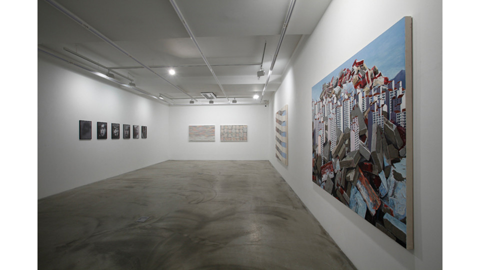 Installation view of Arrival, Gallery Simon, 2013