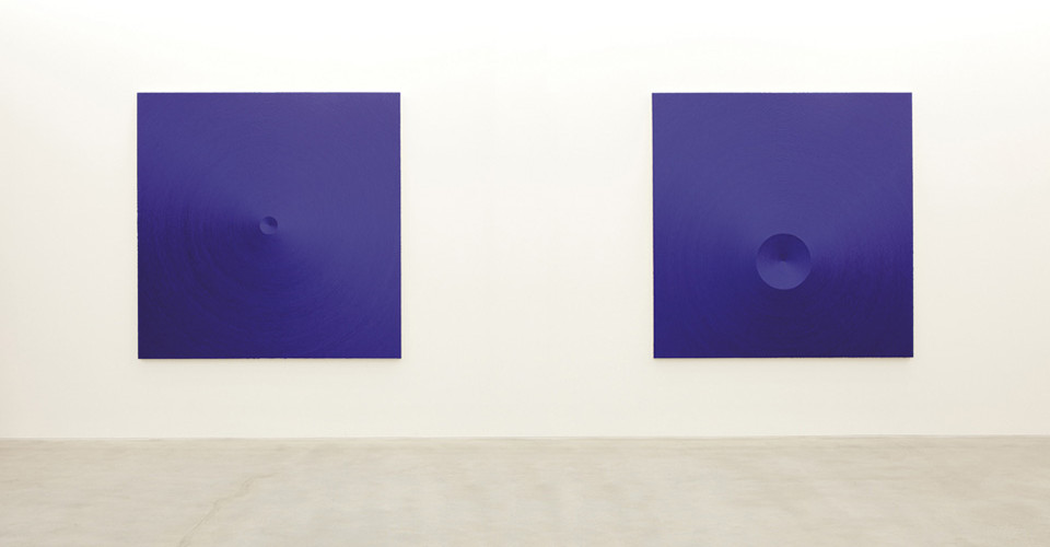 Installation view of solo exhibition, Conjuring Constellations, Gallery Simon, 2011