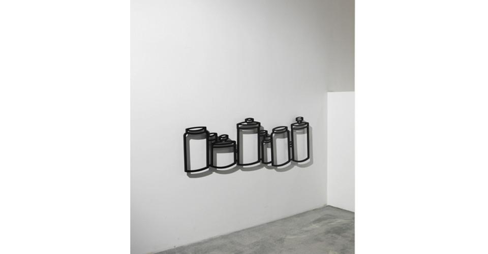 Drawing-Sculpture, 2010, aluminum, 30 x 97.5 cm