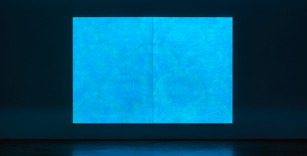 Particles_#2180106_2018_acrylic&phosphorescent pigment on canvas_259 x 388 cm