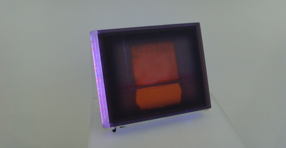 Kang, Airan, Digital Interactive Book, 2008, LCD Moniter & LED lighting plastic box, 40 x 32 x 6 cm