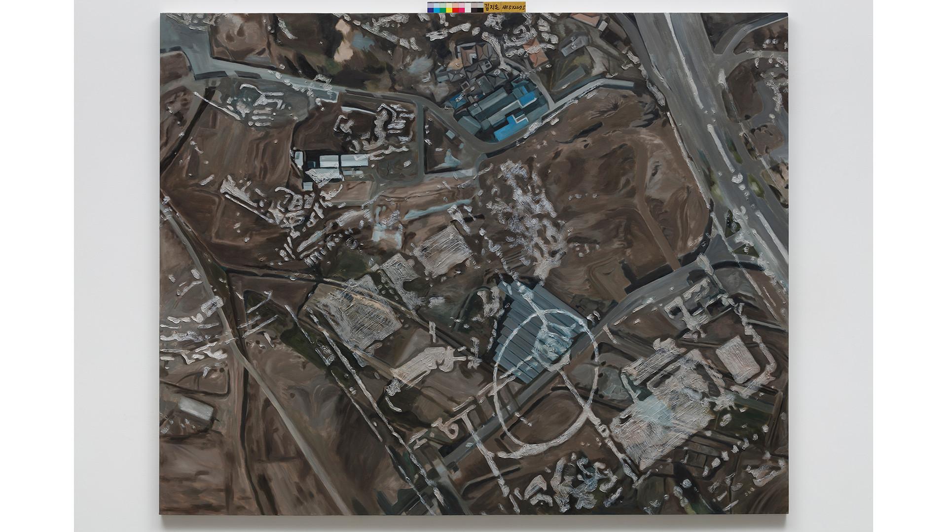 Memories of Land 땅이 기억하는 이야기, 2016, oil on canvas, 181.8x227.3cm