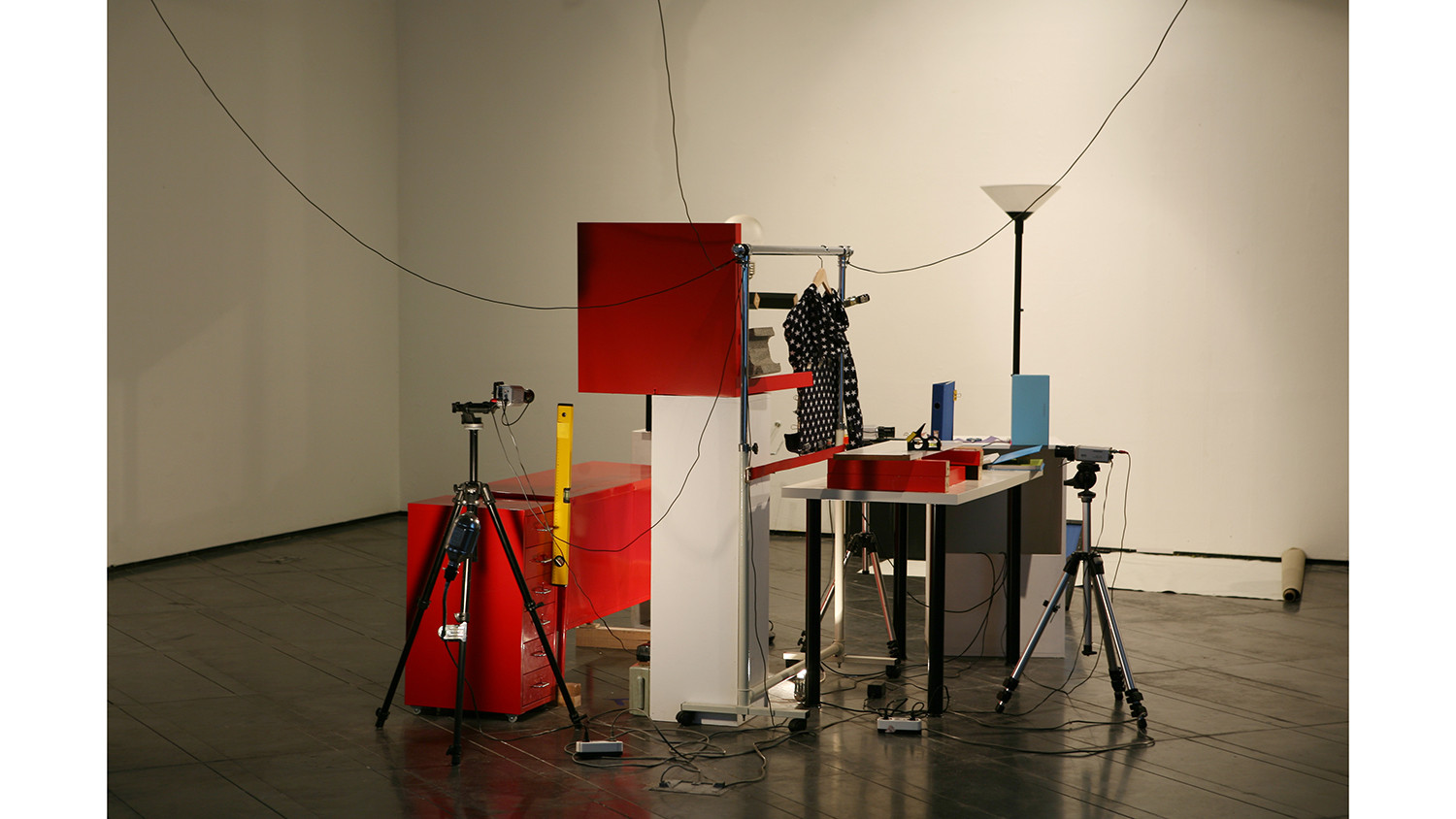 Installation view of Red Cabinet, Gallery Loop, 2011