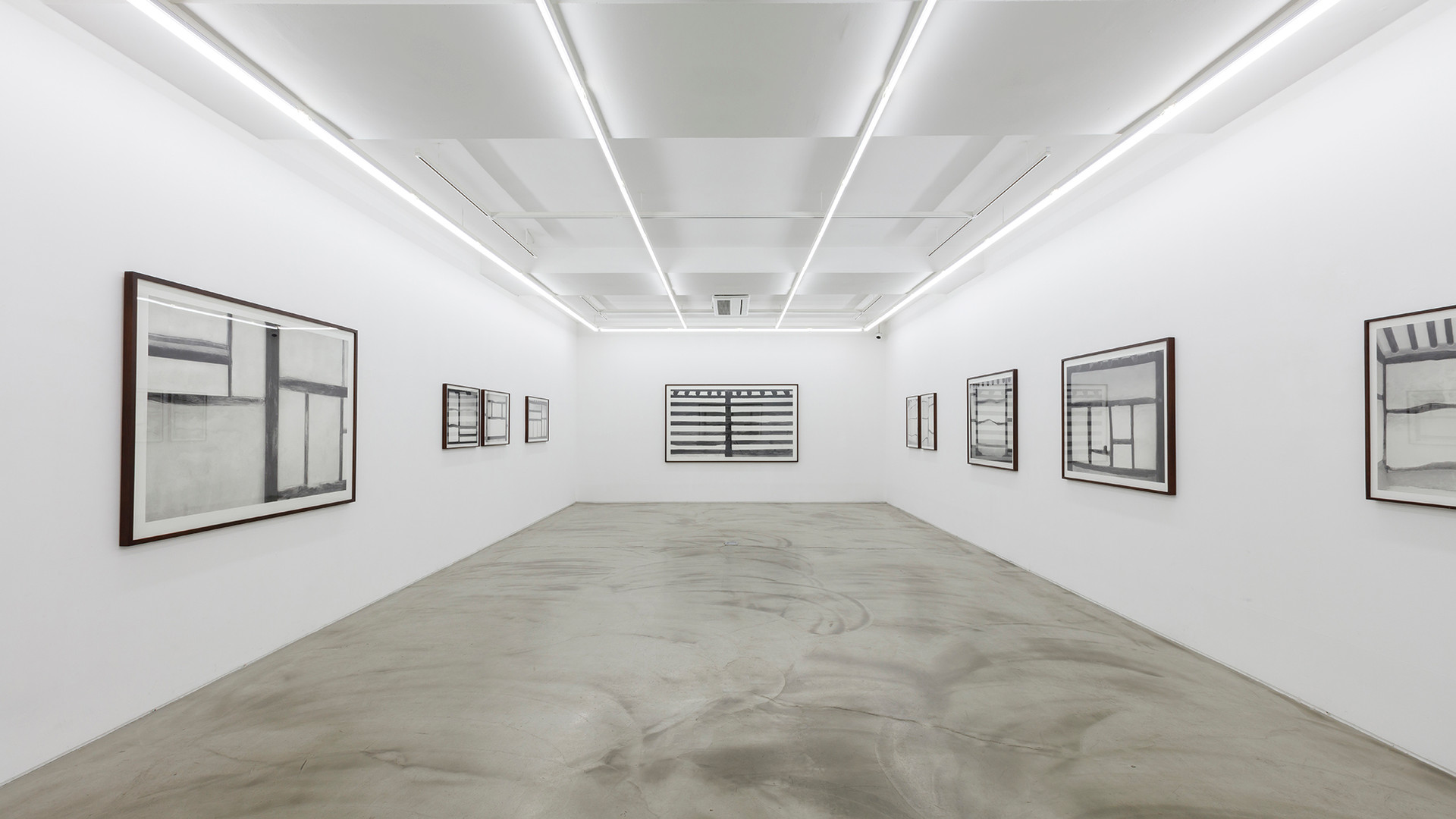 Installation view of Philosophizing the Landscape, Gallery Simon, 2017