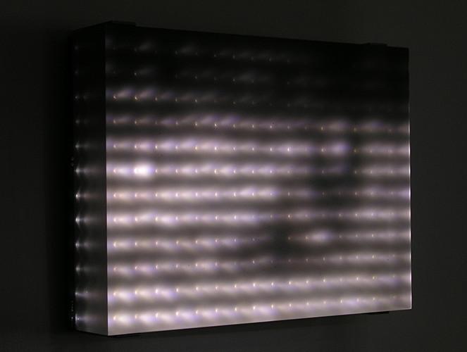 Home Movies Series , 2008, Video Installation custom electronics, 1248 LEDs , 488 x 305 x 19 cm