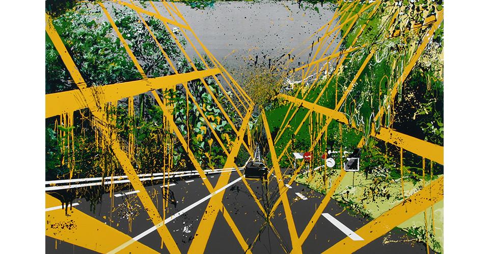Kang, Yoo-Jin, Road, 2007, enamel and acrylic on canvas, 162 x 112 cm
