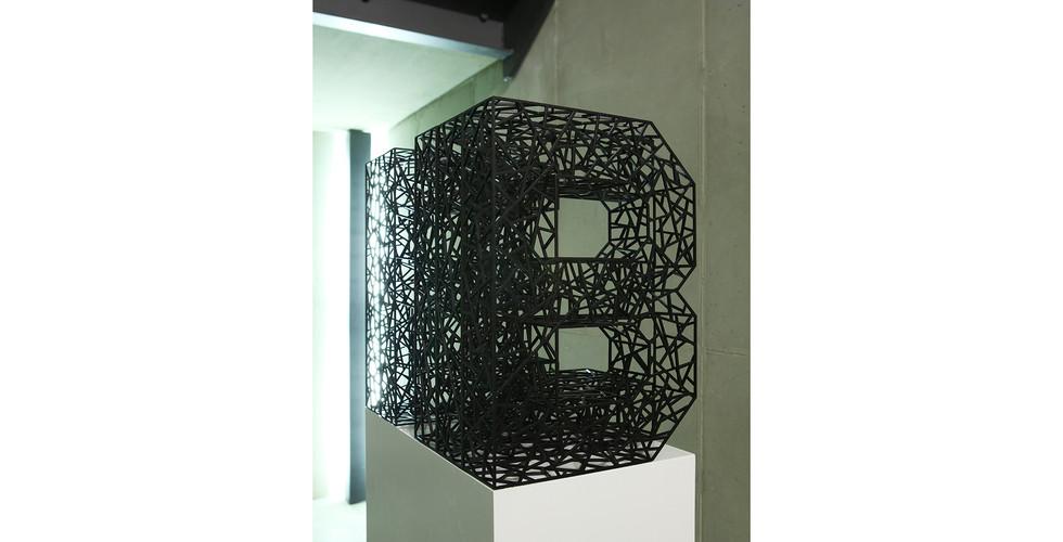 """""""믿음"""" """"Belief"""", 2014, Stainless Steel, electronic coating, 29 x 42(h) x 48cm"""