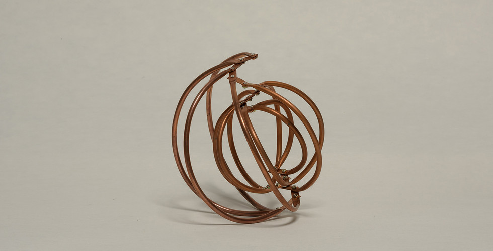 식물의 건축-증식 모형, 2017, 동파이프, 20.5.x20.5x19cm