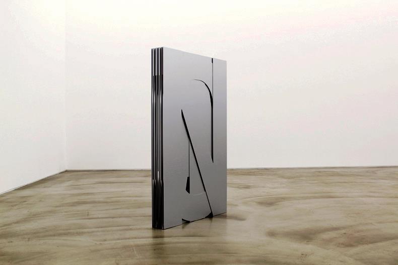 Not an Absolute Object but Absolute Seeing, 2012, laser cut aluminum, 74.5 x 120 x 11 cm