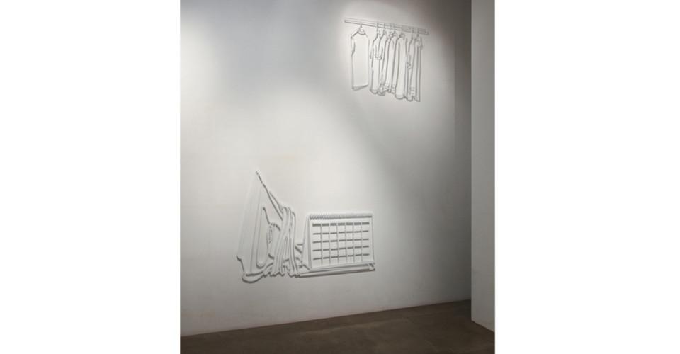 Drawing-Sculpture, 2010, aluminum, 114 x 155 cm, 95 x 75 cm