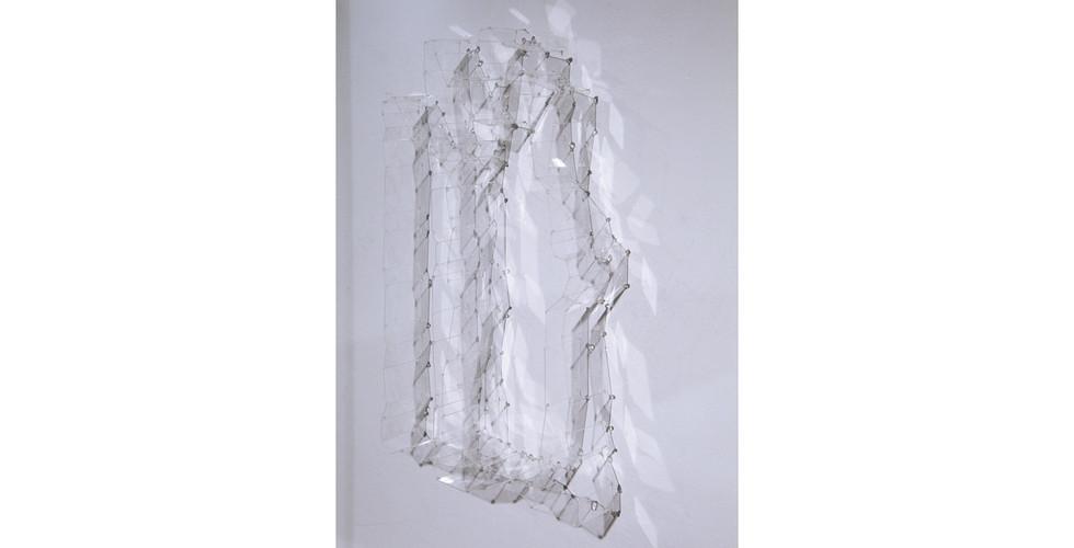 """Writing 1"", 2014, Polycarbonate, 42 x 51(h) cm"