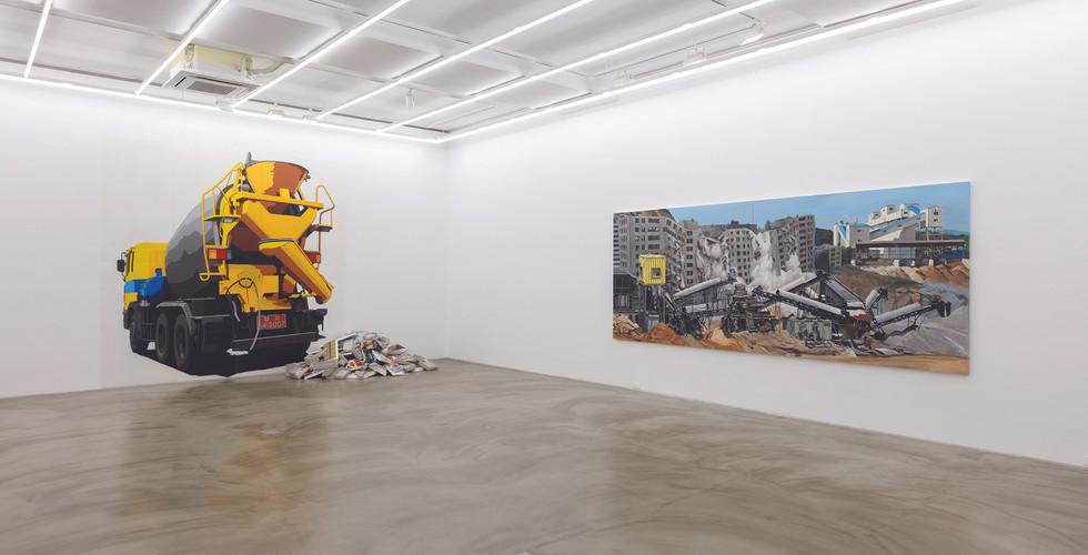 Installation view of Capricious Land 변덕스러운 땅, Gallery Simon, 2016