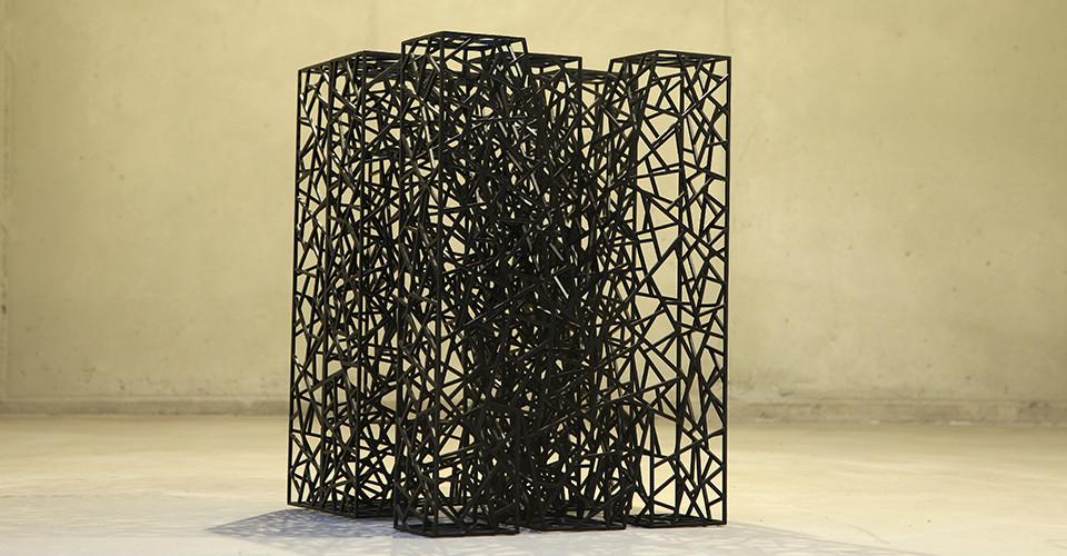 Shin il Kim마음 Mind, 2014, Stainless Steel, electronic coating, 29 x 42(h) x 32.5cm