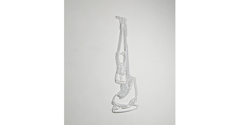Drawing-Sculpture, 2010, aluminum, 120 x 40 cm
