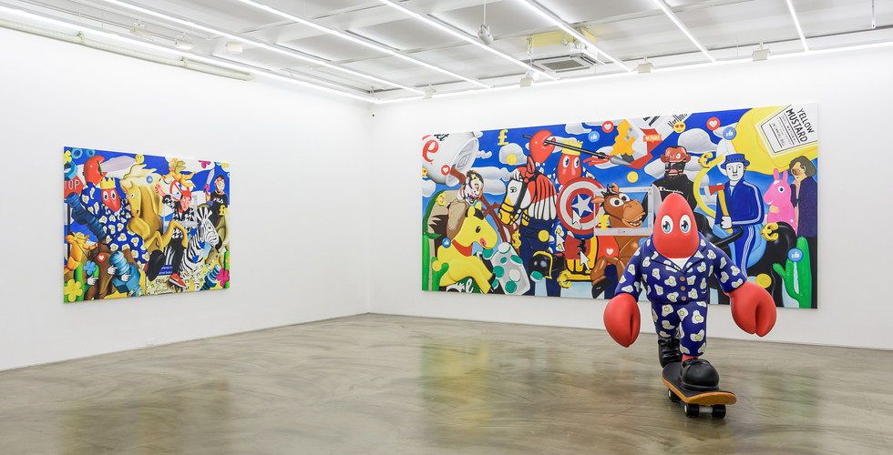 Installation view of Lobster Land in Seoul, Gallery Simon, 2019