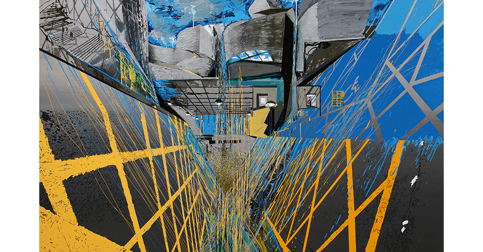 Kang, Yoo-Jin, The Road to the Museum, 2007, enamel and acrylic on canvas, 194 x 130 cm