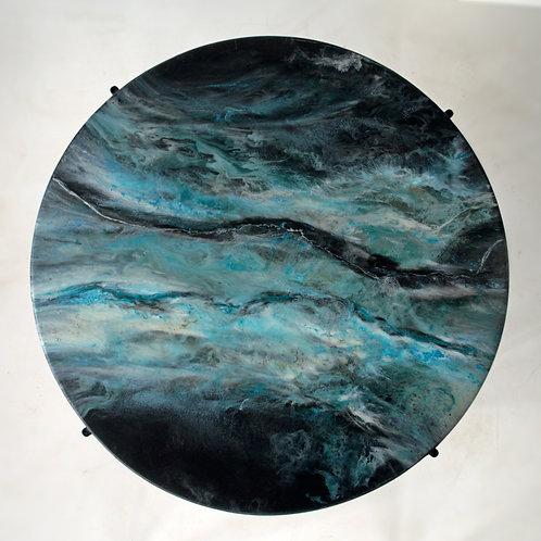 "Stolik kawowy Hand Made ""BLACK OCEAN"""